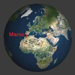 World Map Europe Maroc