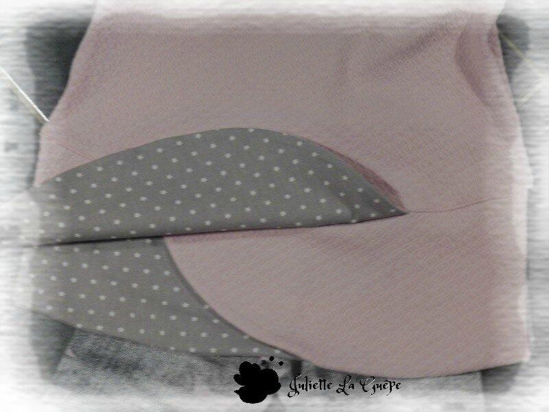 Chatouilleuse legging gris rose étoiles 10