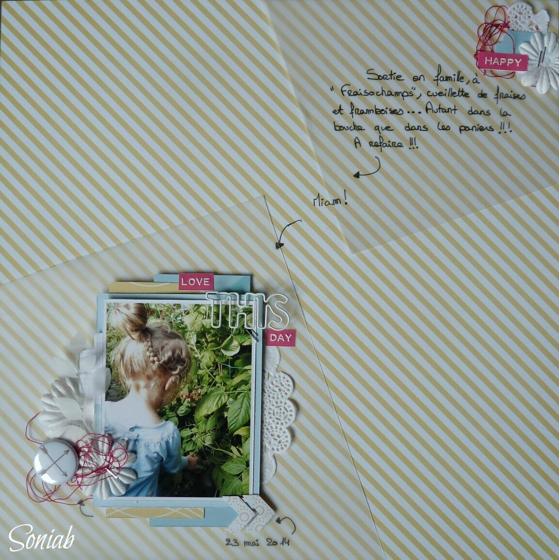 "Page ""Love this day"", challenge ""Scrap it easy"""