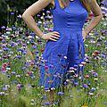 Robe belladone bleu roi