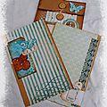 Enveloppe décorée et pages