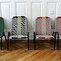 Petits fauteuils d'enfants des années 50 en nylon tressé