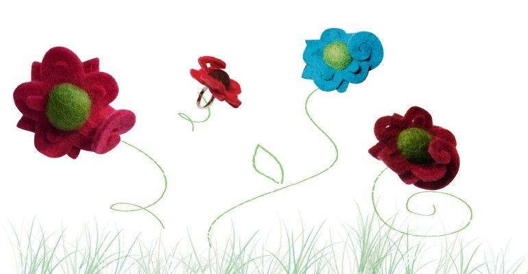 bagues fleurs colors