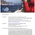 Agenda de la mer : juillet 2018 - agenda of the sea : july 2018