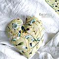 Coeur brodé jardin printanier Marimerveille3
