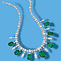 A fine emerald and diamond necklace, circa 1950