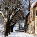 ...pour frédérique:la vieille maison sous la neige..