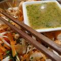Salade et vinaigrette d'inspiration asiatique