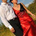 Mariage en rouge avec les bijoux volutes