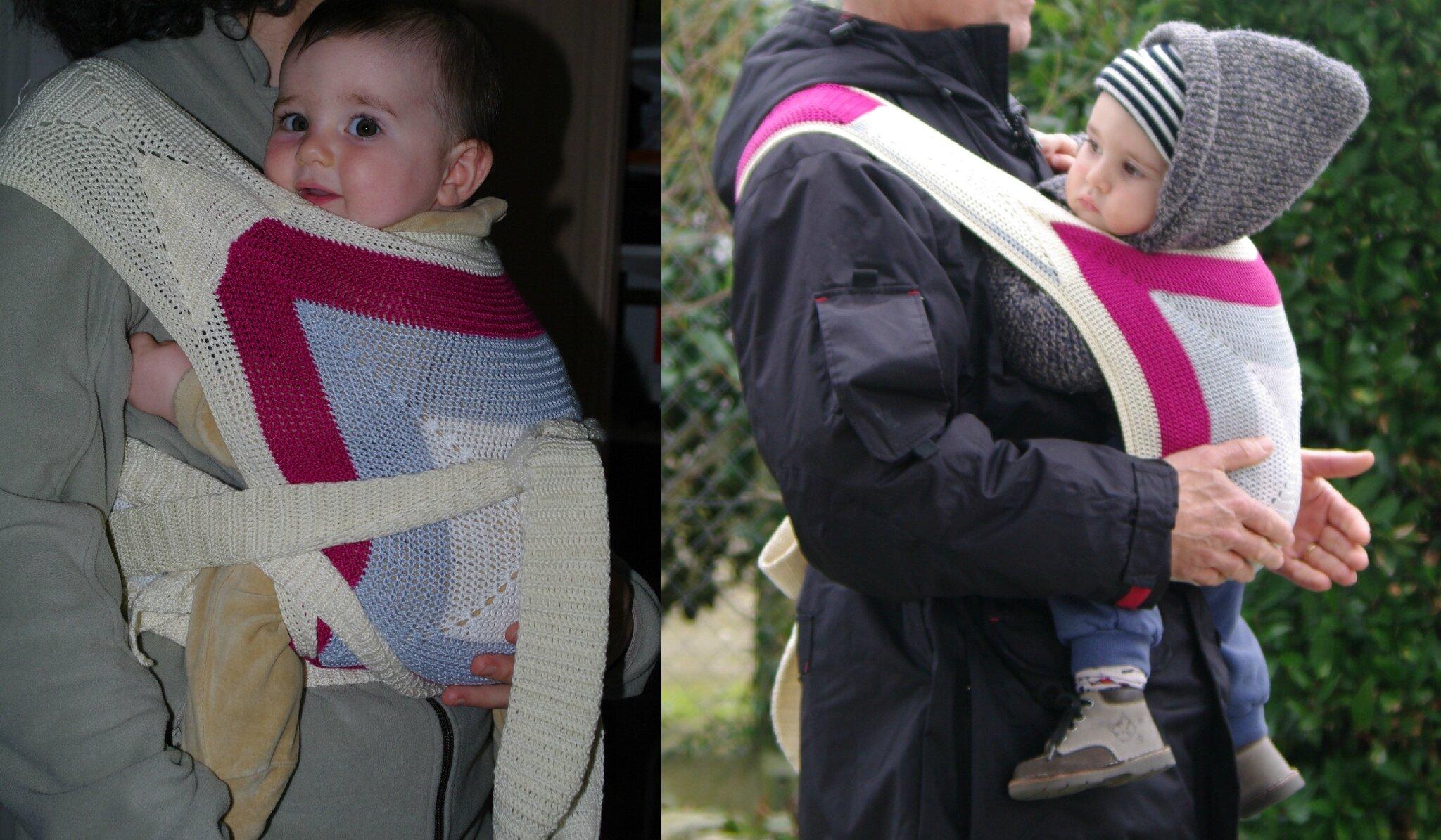 porte bébé chinois au crochet