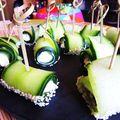 Sushis de concombre au chèvre