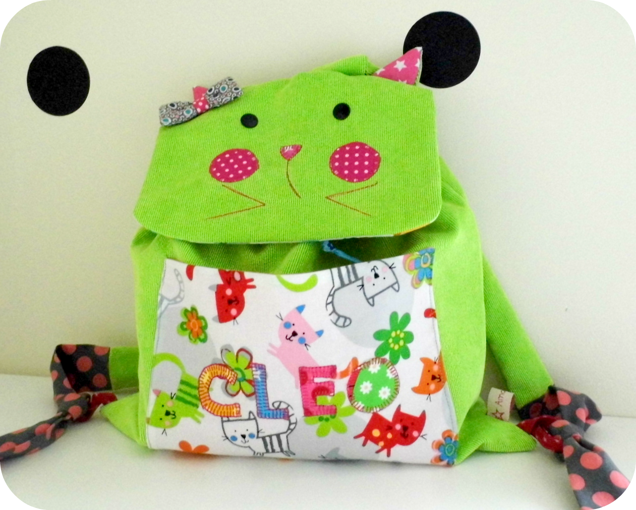 Sac maternelle Chat Cléo