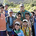 el campamento de pesca con los scouts