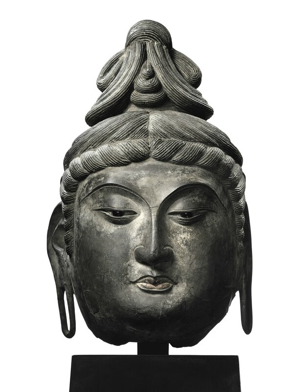 Sotheby's Spring 2017_4 Apr_Curiosity III_A Magnificent and Extremely Rare Dry-Lacquer Head of a Bodhisattva_Tang Dynasty