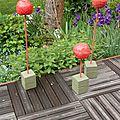 Pommes d'amour sur terrasse