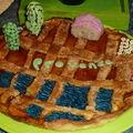 Déco provence sur tarte sablée abricot amande façon linzer torte