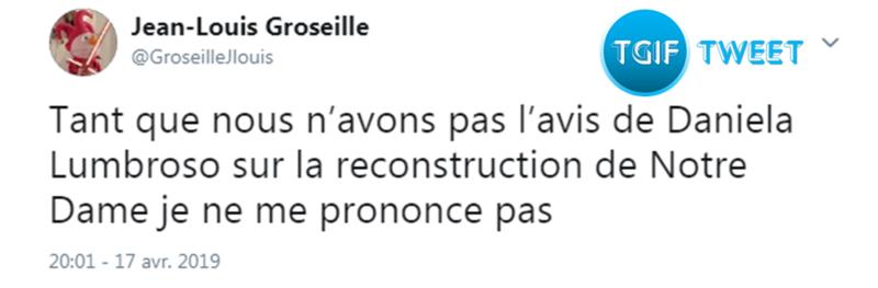Tweet 19-04-2019