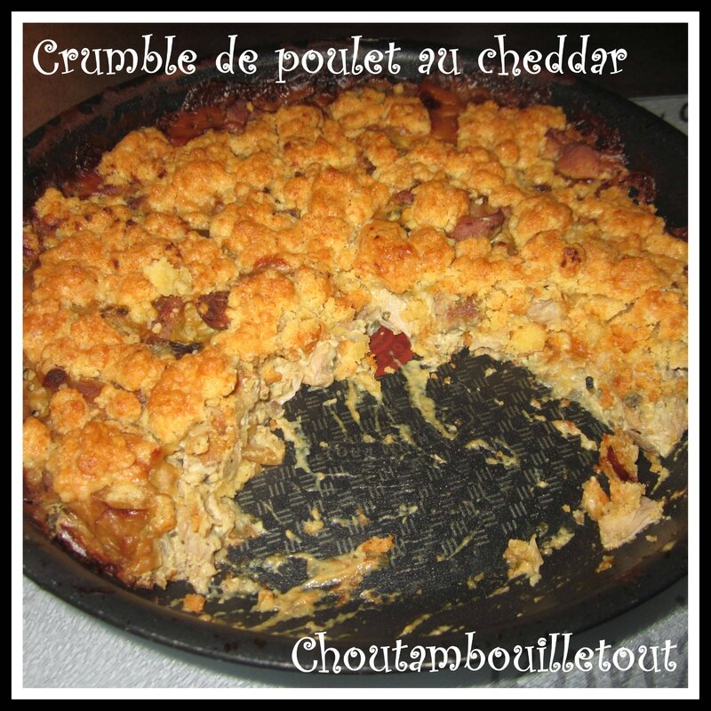 crumble poulet cheddar