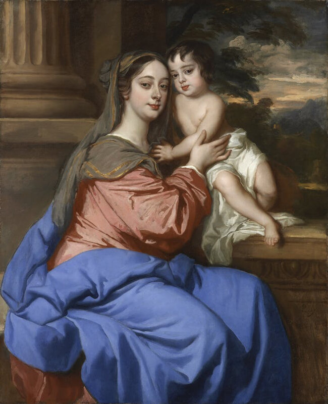 Peter-Lely-Barbara-Palmer-Duchess-of-Cleveland-with-her-son