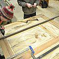 panneaux Médaillon louis XIII , technique assemblage bois