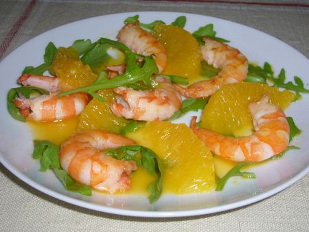 salade crevette orange