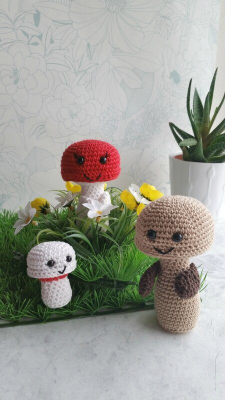 famille-champignons-frog-and-toad-créations-crochet-2