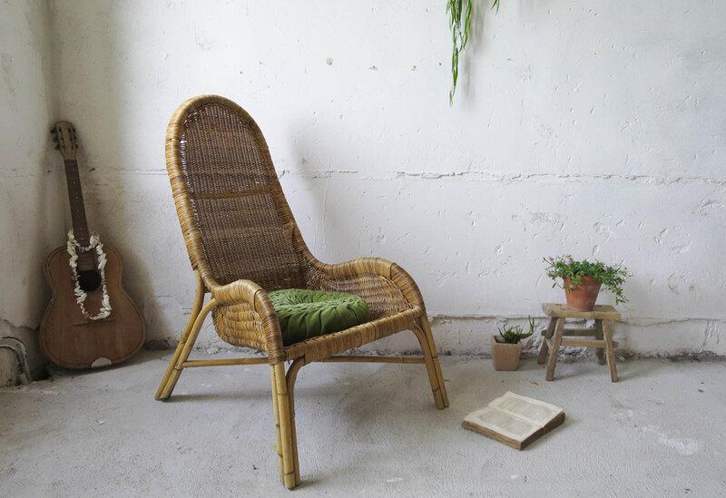 fauteuil-rotin-tresse-vintage-lovmint