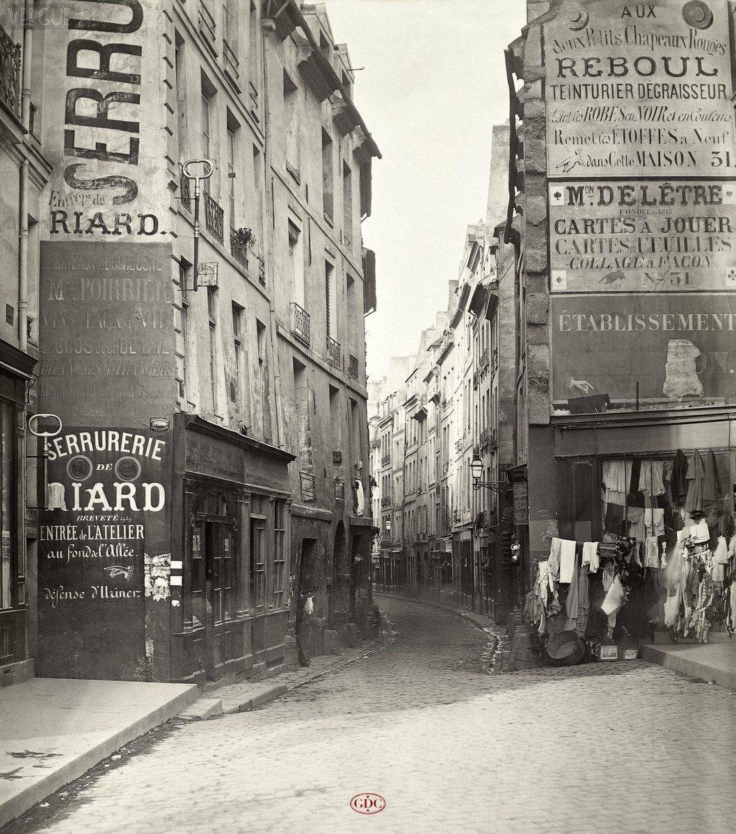 Rue de Bièvre du Bd Saint Germain Paris 1866