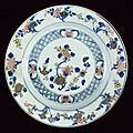 A fine doucai porcelain plate for exportation, kangxi period (1662-1722)