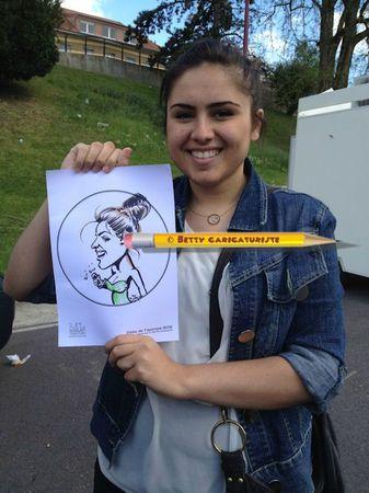 caricature fille brocante