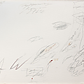 Cy twombly (1928-2011), untitled (roma), 1962