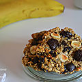 Cookies aux flocons d'avoine et à la banane