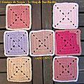 Pink square blanket - rdv n°3 + bonus granny