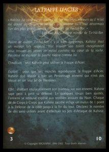 Kahinir le Sauvage - la_frappe_d_acier (expérience)