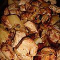 Poulet au chorizo et legumes au four