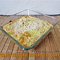 Gratin de courge butternut au curry