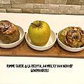 Pomme golden farcie à la ricotta,au miel et aux noix ( 325 cal/ par personne)