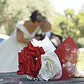 bouquet de mariage original bijou chic ivoire bordeaux real wedding cereza deco (1)