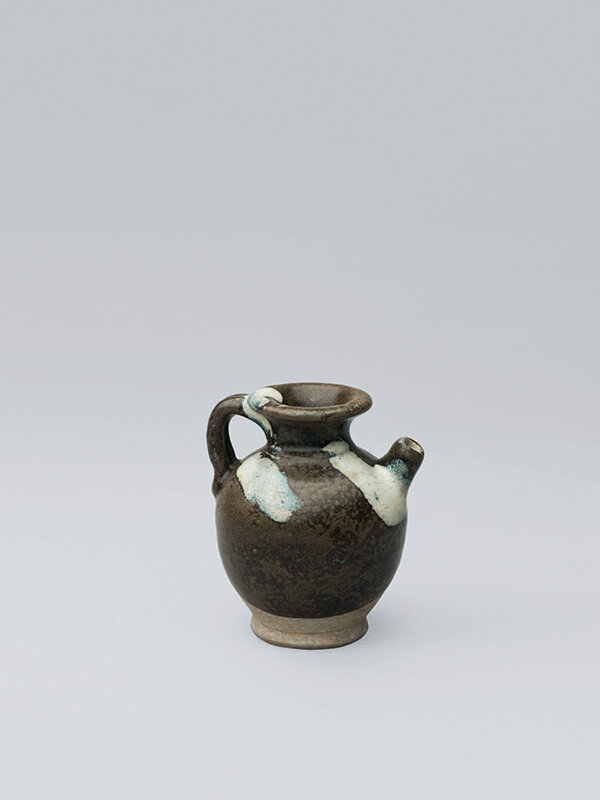 Miniature_blue_splashed_stoneware_ewer__China__Tang_dynasty__618___906____Ben_Janssens_Oriental_Art