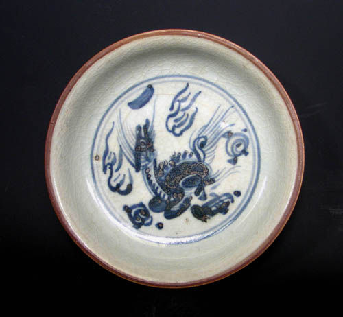 Chenghua/Hongzhi plate with chilin