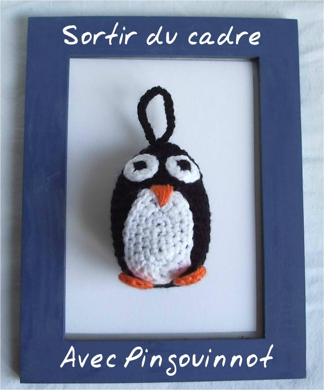 Pingouin crochet sortir du cadre01T