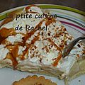 Tarte banane vanille chantilly