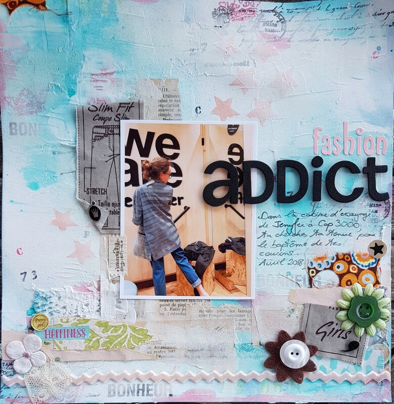 Fashion addict page de scrap freestyle CoClem (1)