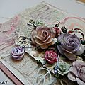 Une carte mixed média shabby.