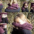 Patron pour tricoter un col en laine