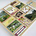 Scrap cadre multi-photos et sa carte assortie