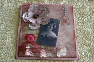 Carte rose vintage