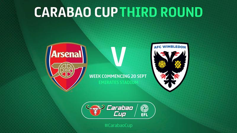 Carabao Cup 3ème Tour Arsenal - Wimbledon