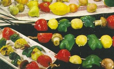 légumes en brochettes