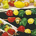 Brochettes de legumes.